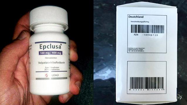 Mit einem Apothekenverkaufspreis von über 18.500 Euro ist Epclusa ein lukratives Fälschungsobjekt. (Foto: BfArM)