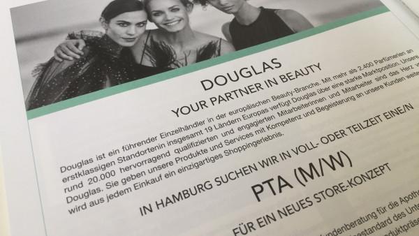 Douglas-Stellenanzeigen: Warum die DAZ sie abdrucken muss