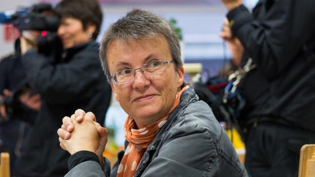 Die Linken-Politikerin Kathrin Vogler wechselt in die Verteidigungspolitik. (Foto: Marcel Kusch / dpa picture alliance)