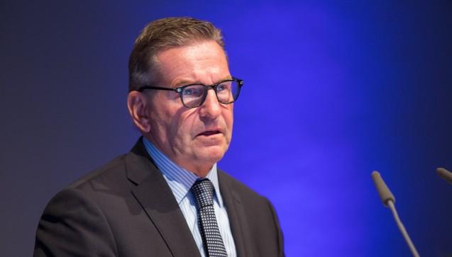 Auch Thomas Trümper, Chef des Phagro, richtete seine Begrüßungsworte an die Apotheker. (Foto: Schelbert)