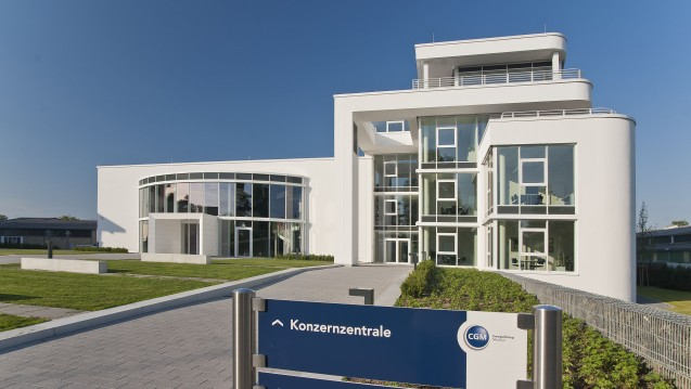 Der CGM-Firmenhauptsitz in Koblenz. (c / Foto: CompuGroup Medical Deutschland AG)