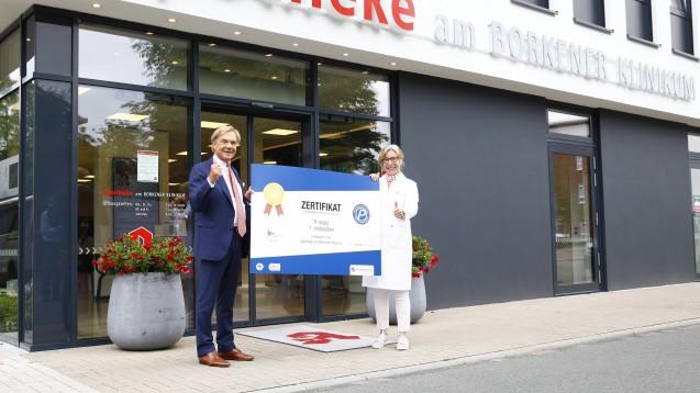 Die Apotheke am Borkener Klinikum von Gabriele Regina Overwiening, Kammerpräsidentin in Westfalen-Lippe, ist eine der ersten, die heute außerhalb eines Modellprojekts an die TI angeschlossen wurden. (c / Foto: Pharmatechnik)