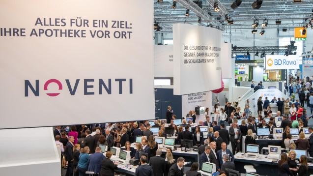 Der Noventi-Konzern (hier das Foto des Expopharm-Standes) ist jetzt beim Hamburger E-Rezept-Projekt der TK engagiert. (s / Foto: Schelbert)