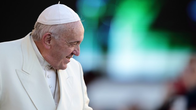 Papst Franziskus hat sich im Rahmen einer Klimaschutz-Initiative am gestrigen Mittwoch mit Noventi-Vorstandsmitglied Sven Jansen getroffen. (c / Foto: imago images / photothek)