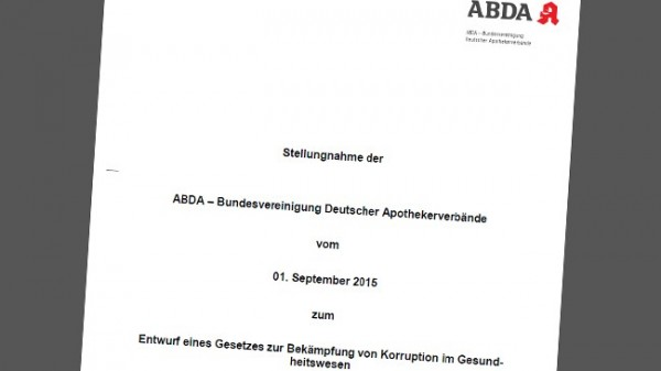 ABDA warnt vor Blanko-Tatbestand