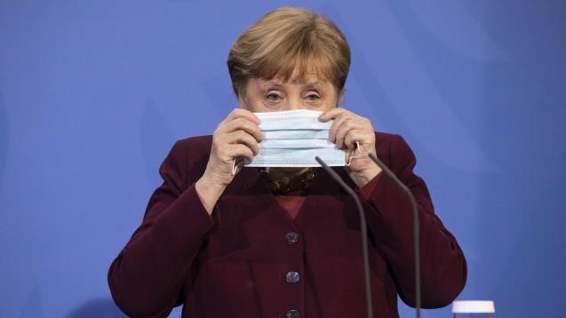 Bundeskanzlerin Angela Merkel soll nach Informationen der dpa die geplante Osterruhe abgeblasen haben. (Foto: IMAGO / Christian Thiel)