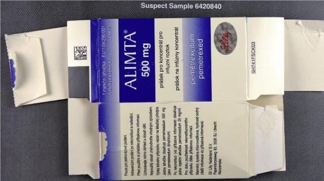 Bei mehreren Parallelvertreibern sind in Deutschland gefälschte Versionen des pemetrexedhaltigen Zytostatikums Alimta aufgetaucht. (m / Foto: BfArM)