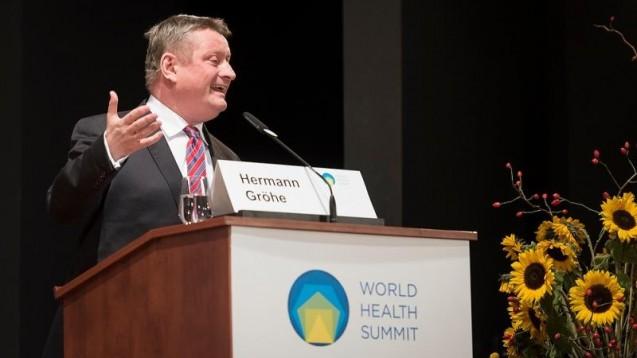 Hermann Gröhe will einen abgestimmten Kampf gegen Antibiotika-Resistenzen. (Foto von der Eröffnung 2015: World Health Summit / S. Kugler)