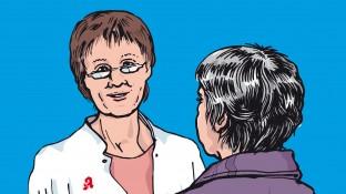 Eine Patientin mit Arthrose