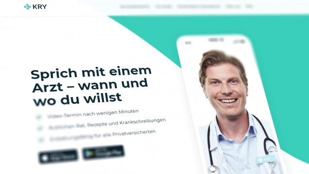 Die schwedische Online-Arztpraxis Kry bietet deutschen Patienten Online-Beratungen an. Die Rezepte wandern dann allerdings per Fax in die Apotheke. (s / Foto / Screenshot: Kry/DAZ.online)