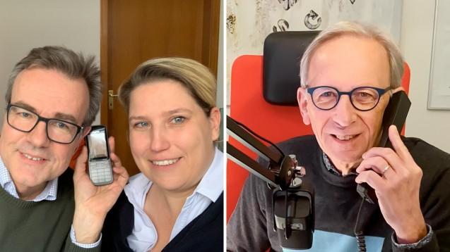 Olaf Elsner und Claudia Scherrer haben Peter Ditzel erzählt, wie die Corona-Schnelltests bei ihnen laufen. (Fotos: privat)