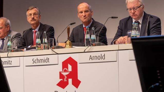 Die ABDA-Spitze wurde am heutigen Mittwochnachmittag von den DAT-Delegierten heftig kritisiert für ihr Vorgehen beim Rx-Versandverbot. (s / Foto: Schelbert)
