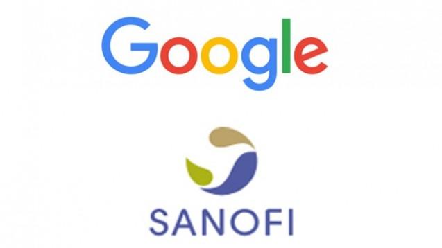 Google und Sanofi starten ein Gemeinschaftsprojekt im Bereich Diabetes. (Logos: Google bzw. Sanofi)