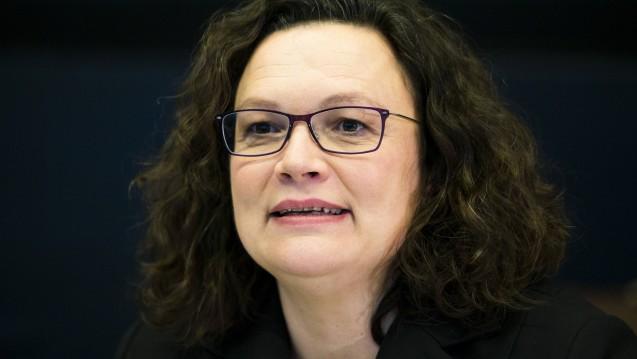 Wie steht die SPD-Spitze zur Cannabisfrage? Andrea Nahles kam in der vergangenen Woche mit einem Kommentar auf Abgeordnetenwatch aus der Deckung. (s / Foto: imago)