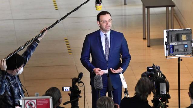 Gerät zunehmend in Erklärungsnot: Bundesgesundheitsminister Jens Spahn. (Foto: IMAGO / Future Image)
