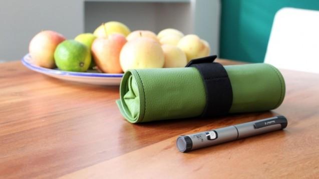 Das Lino Diabetiker-Etui soll Platz für Diabetikerzubehör schaffen – und gut aussehen. ( r / Foto: DeValdés Designstudio)