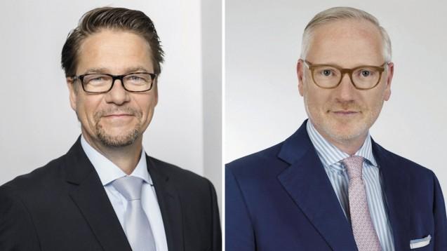 Sanacorp-Geschäftsführer Frank Hennings (links) und Phoenix-Deutschlandchef Marcus Freitag halten ihr Plattform-Konzept für alternativlos für die Präsenzapotheken. (Fotos: Sanacorp / Phoenix)