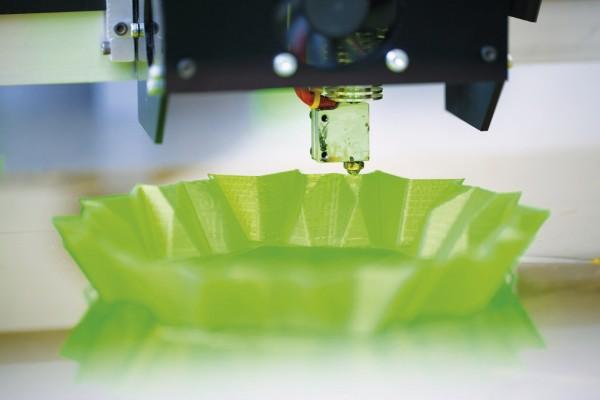 Die Tablette aus dem Drucker
