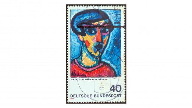 """Der """"Kopf in Blau"""" von Alexej von Jawlensky entstand 1918 und ist eines von etwa 1.500 Bildern, in denen der Maler Gesichter darstellt. (Foto: Lefteris Papaulakis / stock.adobe.com)"""