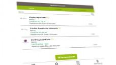 Noch ist das Suchergebnis bei meadirekt überschaubar. In Berlin sind es drei Apotheken. (m / Screenshotmeadirekt.de)