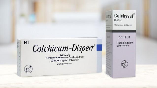 """Obwohl pflanzlich, muss bei Colchicum Dispert und Colchysat """"Pflanzliches Arzneimittel"""" aus der Packungsbeilage entfernt werden. (Foto: Johannes Bürger Ysatfabrik GmbH / DAZ.online)"""
