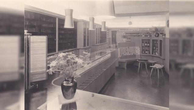 Die Offizin nach der umfassenden Renovierung 1955.