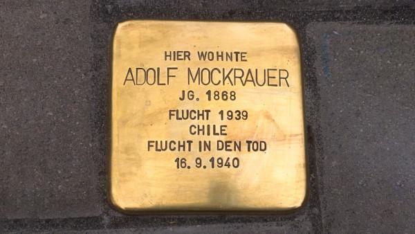 Stolperstein für Apotheker Adolf Mockrauer