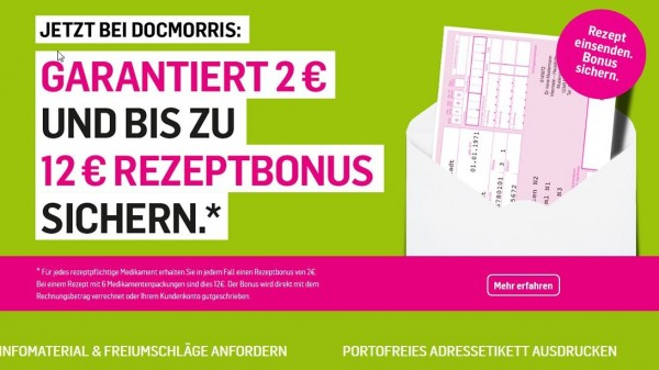 Bis zu 12 Euro Bonus pro Rezept