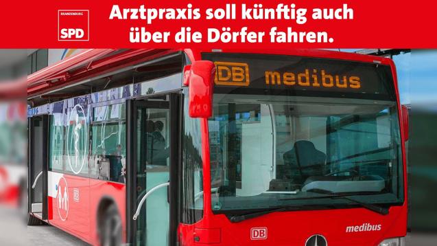 Die SPD Brandenburg wünscht sich einen Gesundheitsbus für die Landversorgung und wirbt damit bereits auf Twitter. (Foto: SPD/DAZ.online)