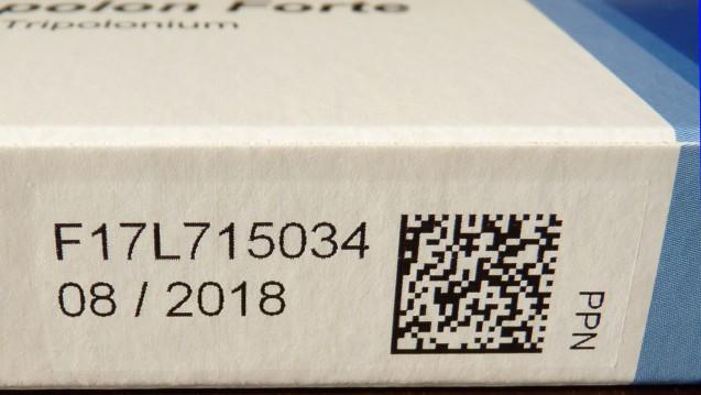 Ein individuelles Erkennungsmerkmal auf Rx-Packungen soll Patienten künftig besser vor Arzneimittelfälschungen schützen. (Foto: securPharm)
