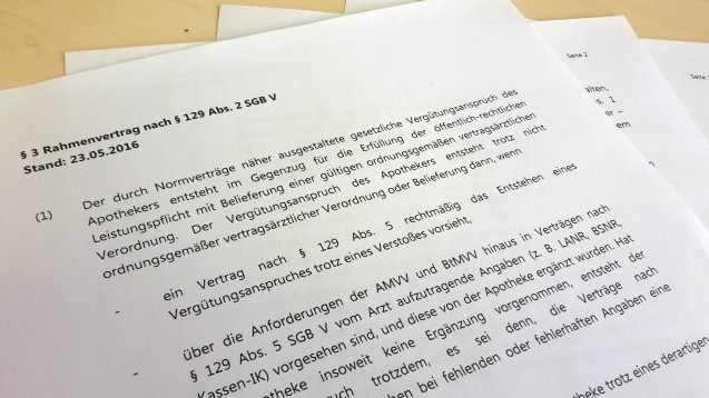 Der Rahmenvertrag von Deutschem Apothekerverband und GKV-Spitzenverband wird um einige Seiten ergänzt. (Foto: DAZ.online)