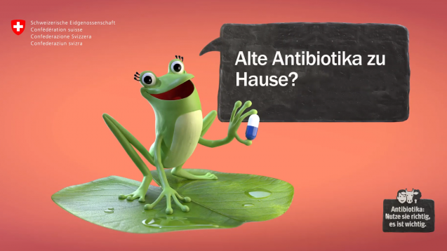 Nicht gebrauchte Antibiotika können Schweizer derzeit zurück in die Apotheke bringen. (Screenshot Sensibilisierungskampagne Antibiotika 2019)
