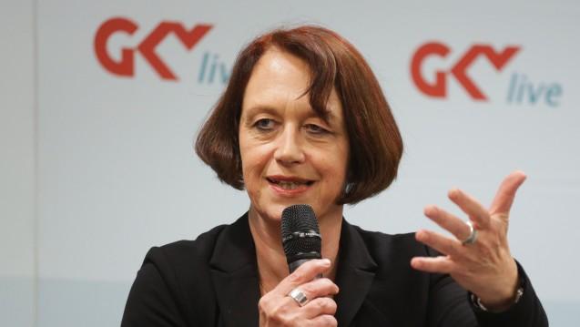 Doris Pfeiffer, Vorstandsvorsitzende des GKV-Spitzenverbandes, mahnt vor großen Eingriffen in den Krankenversicherungsmarkt. (Foto: GKV-SV)