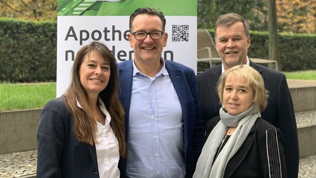 Macht sich für Grippeimpfungen in der Apotheke stark: via-Vorstand Dr. Ann-Katrin Gräfe-Bub, Thomas Anthes, Arndt Lauterbach, Ursula Krüger (v. li.). (m / Foto: via)