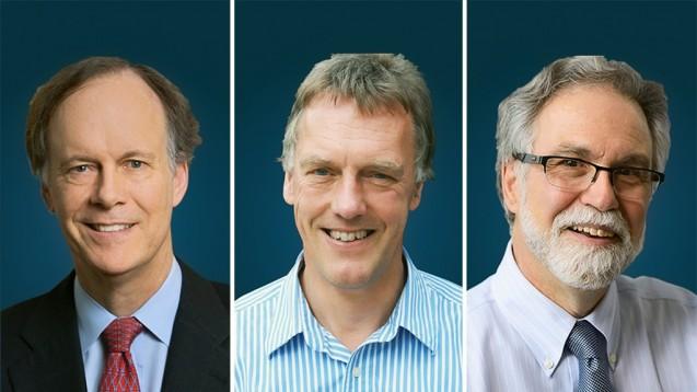 William G. Kaelin Jr., Sir Peter J. Ratcliffe und Gregg L. Semenza sind die Medizin-Nobelpreisträger 2019. (c / Foto: The Nobel Assembly at Karolinska Institutet)