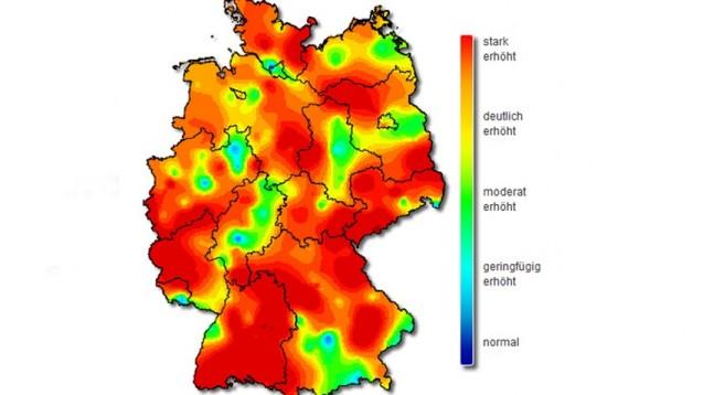 Die Aktivität akuter Atemwegserkrankungen ist in der 8. Kalenderwoche erneut gestiegen. (Grafik: RKI)