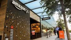 """Bald auch in Deutschland? Eines der """"Amazon Go""""-Geschäfte, die ohne Kassen auskommen in Seattle, USA. (Foto:Andrej Sokolow / dpa)"""