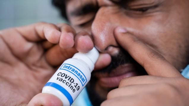 Einige nasale COVID-19-Impfstoffe befinden sich tatsächlich bereits in der klinischen Phase, allerdings stehen alle noch ganz am Anfang. (s / Foto: Lakshmiprasad / AdobeStock)