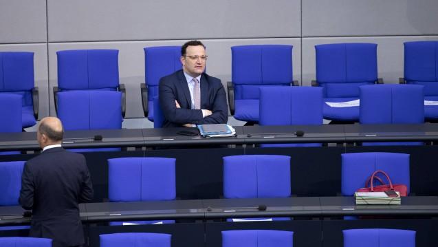 Am Montag startet die letzte Sitzungswoche vor der parlamentarischen Sommerpause. Jens Spahn will unter anderem noch sein PDSG auf die Zielgerade bringen. Das VOASG hat dagegen noch immer nicht das Parlament erreicht. (imago images / IPON)