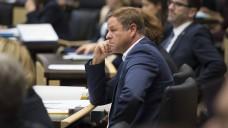 Laut Brandenburgs Kammerpräsident Jens Dobbert soll Finanzminister Christian Görke (Linke, hier im Bild) die Kosten für einen neuen Pharmazie-Studiengang aus dem Doppelhaushalt gestrichen haben. (b / Foto: Imago)