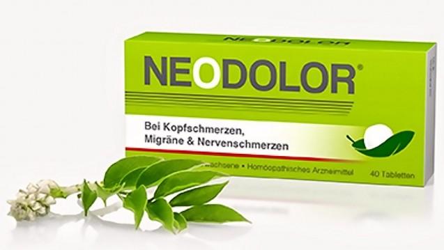 Laut Firmenhomepage kann das Homöopathikum Neodolor wohl schon als Wundermittel angesehen werden. (Screenshot: DAZ.online)