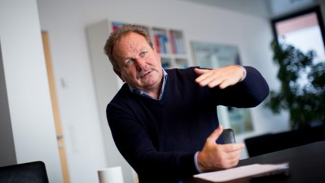 """""""Wir müssen unbedingt zur paritätischen Finanzierung zurückkehren"""": Verdi-Bundesvorsitzende Frank Bsirske in Berlin in der Gewerkschaftszentrale. (dpa)"""