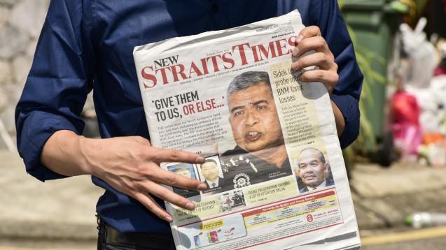 Nach dem Tod des Halbbruders des nordkoreanischen Machthabers Kim Jong-un in Malaysia ermittelt die dortige Polizei. Polizeichef Khalid Abu Baka ziert die Titelseite der Zeitungen. (Foto:picture alliance / NurPhoto)