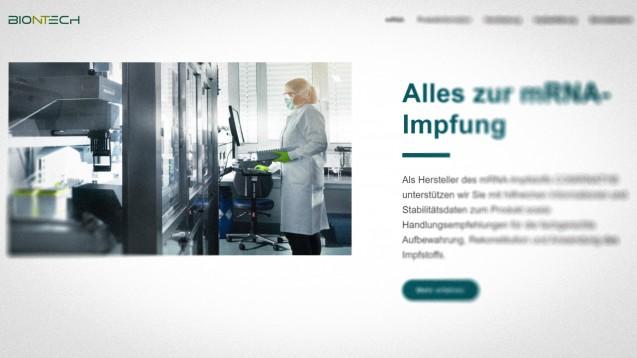 (Screenshot: praxis.comirnaty.de)