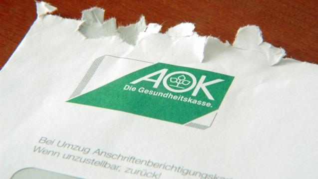 """Die AOK Hessen hat bestätigt, dass Apotheken verklagt wurden. Sie sei verpflichtet, """"alles Vertretbare zur Sicherung von Einnahmen zu tun, da es sich um Beitragsgelder handelt"""". Sie will auf dem Klageweg Erstattungen zur Umsatzsteuer auf den Herstellerabschlag erstreiten.(c / Foto: imago images / Steinach)"""