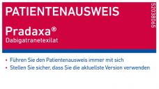 In der Apotheke sollten Pradaxa-Anwender darauf hingewiesen werden, immer die neueste Version des Patientenausweises zu benutzen. (Foto: Boehringer)