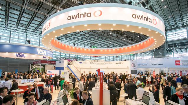 Awinta war mit einem großen Stand auf der Expopharm in Düsseldorf vertreten. (Foto: DAZ / Schelbert)