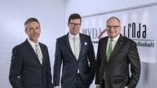 Wieder zu dritt: Der Vorstand der Linda AG (von links nach rechts): Georg Rommerskirchen, Volker Karg, Dr. Christian Beyer. (Foto: Linda AG)