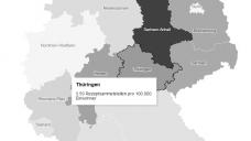 Die Anzahl an Rezeptsammelstellen pro 100.000 Einwohner schwankt in Deutschland stark. (Foto: DAZ.online)