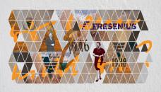 Kunstwerk zum 30. Todestag. Zu Ehren der Gründerin errichtet die EKFS im Juni 2018 eine Wand-Installation (hier als Entwurf zu sehen), die Stationen aus Kröners Leben als Unternehmerin zeigt. (Grafik: Lutz Jahnke / JahnkeDesign.com)